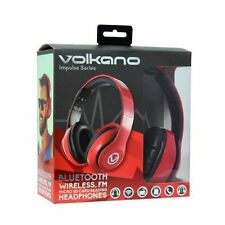 Auriculares rojo con conexión Bluetooth