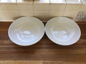 White By Denby Pasta Bowls X2.Brand New.