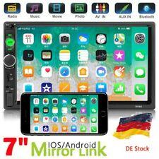 Doppel Din 7 Bluetooth Autoradio MP3 Android/iPhone Mirror Link Für VW Golf4