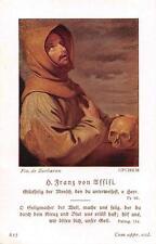"""Heiligenbild  Holycard Franz von Asissi """" H3676"""" Messopfer 1925"""