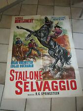 MANIFESTO,WESTERN,Lo stallone selvaggio,King of the Wild Stallions,G.MONTGOMERY,