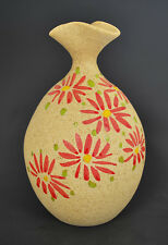 """Hand Made & Hand Painted Pottery Vase 6"""" H x 3 1/2"""" W PSRC-2"""