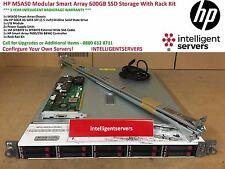 HP MSA50 Modular Smart Array 600GB SSD Storage With Rack Kit * 364430-B21 *