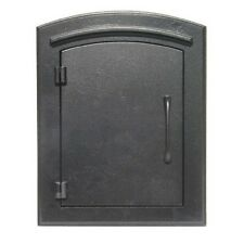Qualarc Man-1400-Bl Manchester Non-Locking Column Mount Mailbox Plain Door in Bl