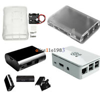 Transparent /White/Black ABS Cover Box Case For Raspberry Pi 3, 2 Cooling Fan