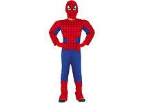 COSTUME CARNEVALE SPIDERMAN super eroe uomo ragno