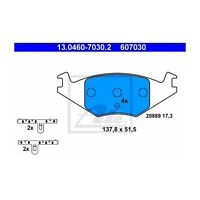 ATE 13.0460-7030.2 Bremsbelagsatz, Scheibenbremse  Links für VW Derby Golf II