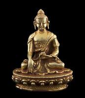 Budda Shakyamuni Soprammobile Tibetano Rame Divinità Qualità 79mm Nepal 26682