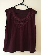 Unbranded Lace Solid Sleeveless Tops for Women