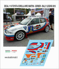 DECALS 1/18 TOYOTA COROLLA WRC MARTINI MARLBORO GERBER RALLY LEGEND 2018