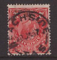 Tasmania BEACHSIDE type 4 postmark 1937 on KGV piece rated 2R by Hardinge