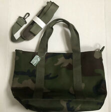 LL Bean Zip Hunter Tote Bag with Strap Canvas Camo Wipeable Interior Hunting