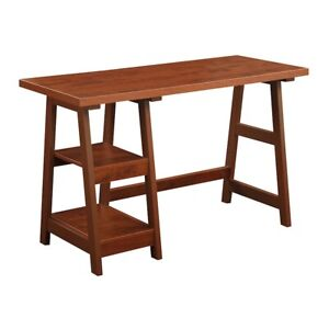 Convenience Concepts Designs2Go Trestle Desk, Cherry - 090107CH