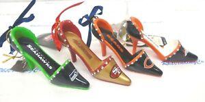 NFL Team High Heel Shoe Ornament