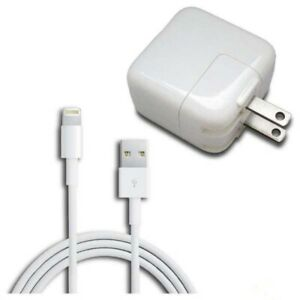 """block charger for ipad 2 3 4 5 12w 12 W wall with 8pin cable set 37""""  US Seller"""