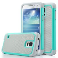 Fits Samsung Galaxy S5 Neo Case Rugged Shockproof Hybrid Impact Cover - Teal