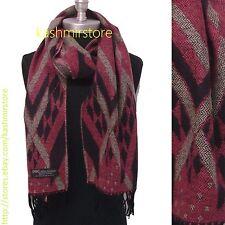 New 100% Cashmere Scarf Classic Plaid Scotland Soft Warm Wool Pink/Purple/beige