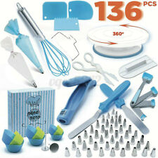 136PCS DIY Decorating Supplies Rotary Stand Cake Turntable Set Tube Baking Tool