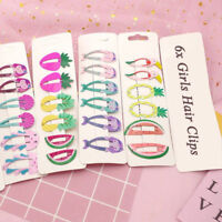 6pcs Cute Girls Baby Hair Clips Snaps Hairpin Baby Kids Hair Bow Accessories