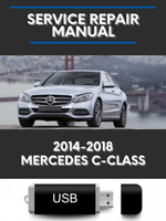Mercedes C Class W205 2014-2018 Factory Service Repair Manual USB