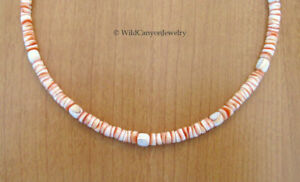 *Handmade* Red Lip Heishi Shell Necklace