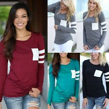 New Women Casual Long Sleeve Crochet Pullover Loose Tops Ladies T-Shirt Blouse T