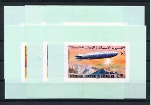 Mauretanien 539/44 postfrische Sonderblöcke / Zeppelin ...................2/2732