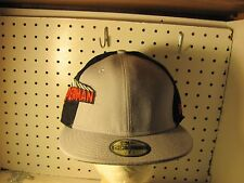 RETR0 SUPERMAN DC COMICS NEW ERA 59FIFTY BLACK GRAY CAP FITTED SIZE 7 3/8 NWTS