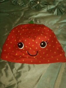 Baby Girl Strawberry Hat Age 1-2 Years H & M