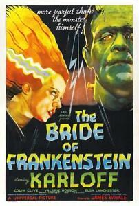 Bride of Frankenstein Movie Poster Art Style Decor High Quality No Frame Poster