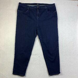 Universal Standard Jeans Womens Plus 22 High Rise Skinny Blue Dark Wash 5 Pocket