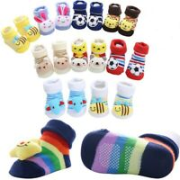 Toddler Non-Slip Boot Socks Kids Baby Cartoon Warm Shoes Anti-slip Slipper