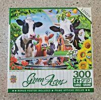 300 EZ Grip Jigsaw Puzzle Farm Scene  MOO LOVE - NIB - FREE Shipping