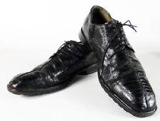 Ostrich skin BLACK Belvedere 10.5 leather split toe full dress formal