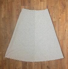 Sugarlips Women's  Black & White Horizontal Striped Skirt! Zipper Back. Sz S