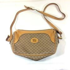 Authentic VTG Gucci crossbody purse tan brown leather GG print dust bag Italy