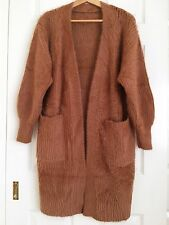 Womens Cashmere / wool light brown coat / jacket / cardigan one size / 8-10 M S