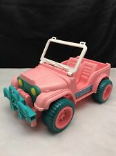 Pink Barbie Jeep Mattel 1987 Pink & Green