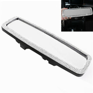 Crystal Bling Car Rear View Mirror Wide-angle Lens Clip On Driving Safety Mirror
