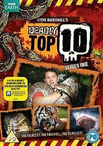 Deadly Top 10 - Series 1 DVD Steve Backshall BBC EARTH Animal Documentary AUS R4
