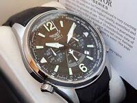 AVIATOR F SERIES Orologio Cronografo Uomo Aviatore WorldTime Miyota Japan NUOVO