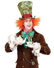 Mad Hatter Alice In Wonderland Tea Party Book Week Men's Fancy Dress Hat + Hair