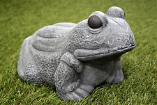Steinfigur Frosch Gartenfigur Gartendeko Tierfigur Steinguss frostfest