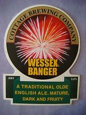 Beer Pump Clip: Cottage Brewing Wessex Banger - Traditional English Ale -Britain