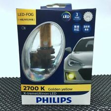 Genuine PHILIPS X-treme Ultinon LED H8 H11 H16 2700K Yellow Fog Lamps x2 #gtns