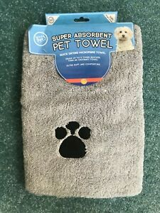 Super Absorbent Microfibre Quick Drying Pet Towel Small Dog