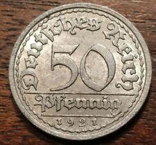 1921 F Germany 50 Pfennig 1403