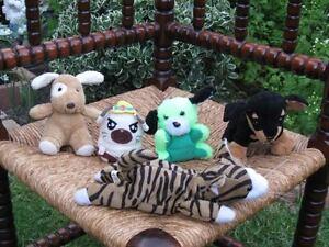 Lot of 4 Dogs & 1 Cat Plush Germany Dutch Nintendog Hamtaro