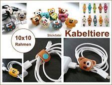 ♥ Stickdatei 10 ITH Stickdateien *Kabeltiere* 10x10 Rahmen ♥