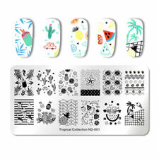 Nail Art Stamping Plate Image Decoration Summer Holidays Cactus Pineapple (ND01)